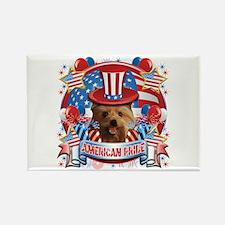 American Pride Yorkie Rectangle Magnet