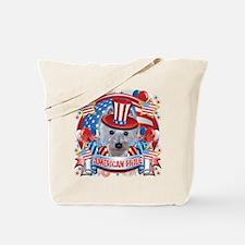 American Pride Westie Tote Bag