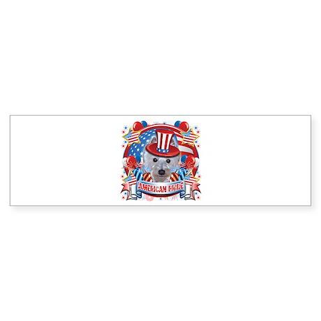 American Pride Westie Sticker (Bumper)