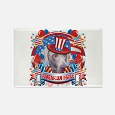 American Pride Weimer Rectangle Magnet