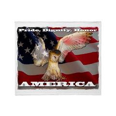MOLLY THE OWL Throw Blanket