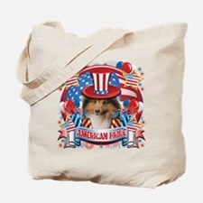 American Pride Sheltie Tote Bag