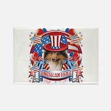 American Pride Sheltie Rectangle Magnet