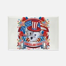 American Pride Schnoodle Rectangle Magnet