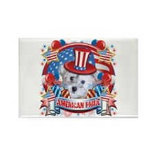 American Pride Schnoodle Rectangle Magnet (10 pack