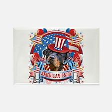 American Pride Rottweiler Rectangle Magnet