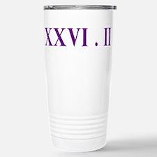 XXVI.2 Serif Stainless Steel Travel Mug