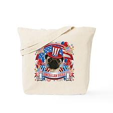American Pride Pug Tote Bag