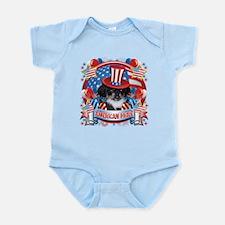 American Pride Pekingese Infant Bodysuit