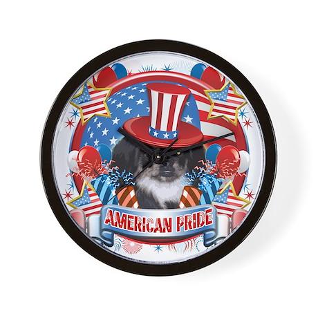 American Pride Pekingese Wall Clock