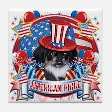 American Pride Pekingese Tile Coaster