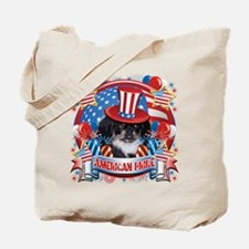 American Pride Pekingese Tote Bag