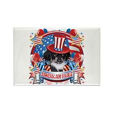 American Pride Pekingese Rectangle Magnet (100 pac