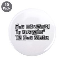"Blowin' in the Wind/Dylan 3.5"" Button (10 pack)"