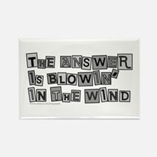 Blowin' in the Wind/Dylan Rectangle Magnet (10 pac