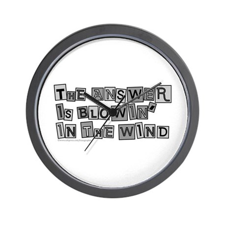 Blowin' in the Wind/Dylan Wall Clock