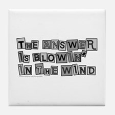 Blowin' in the Wind/Dylan Tile Coaster