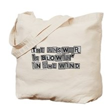 Blowin' in the Wind/Dylan Tote Bag