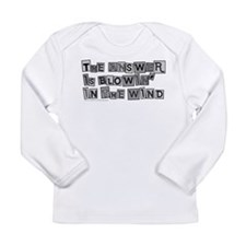 Blowin' in the Wind/Dylan Long Sleeve Infant T-Shi