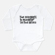 Blowin' in the Wind/Dylan Long Sleeve Infant Bodys