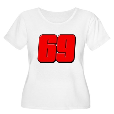 NH69Red Women's Plus Size Scoop Neck T-Shirt