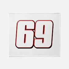 NH69White Throw Blanket