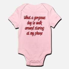 Staring at my Phone Infant Bodysuit