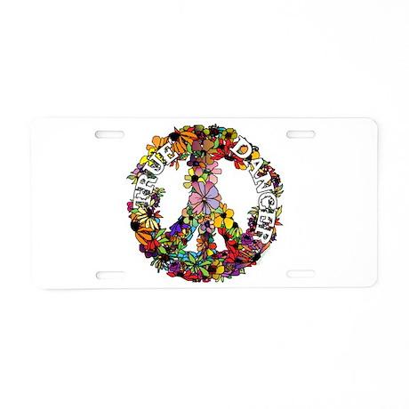 True Dancer Peace Symbol Aluminum License Plate
