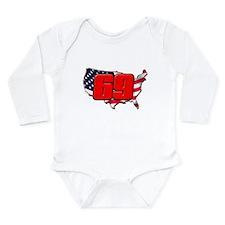 NH69America Long Sleeve Infant Bodysuit
