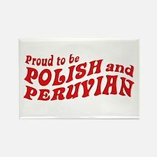 Polish and Peruvian Rectangle Magnet