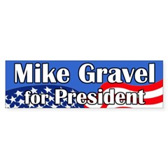 Mike Gravel for President bumper sticker