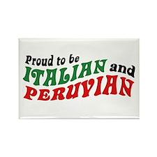Italian and Peruvian Rectangle Magnet