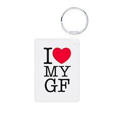I Love My Girlfriend Keychains