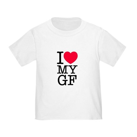 I Love My Girlfriend Toddler T-Shirt