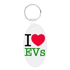 I Love EVs Keychains