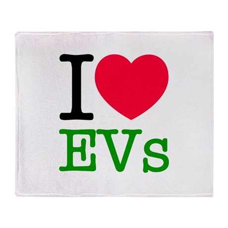 I Love EVs Throw Blanket