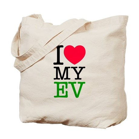 I Love My EV Tote Bag