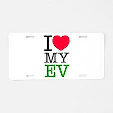 I Love My EV Aluminum License Plate