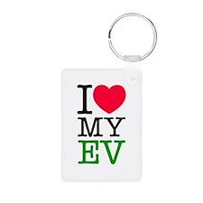 I Love My EV Keychains