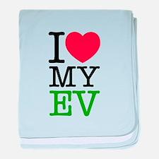 I Love My EV baby blanket