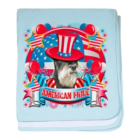 American Pride Miniature Schnauzer baby blanket