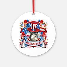 American Pride Miniature Schnauzer Ornament (Round