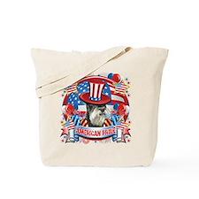 American Pride Miniature Schnauzer Tote Bag