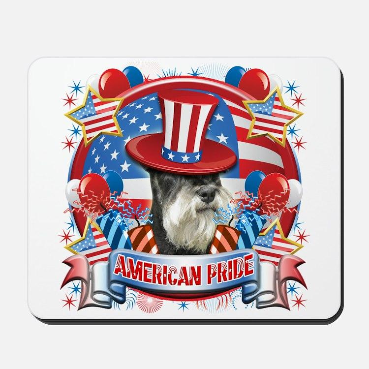 American Pride Miniature Schnauzer Mousepad