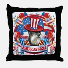 American Pride Miniature Schnauzer Throw Pillow