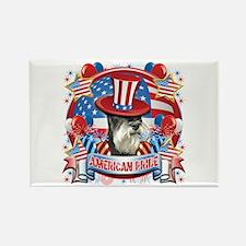 American Pride Miniature Schnauzer Rectangle Magne