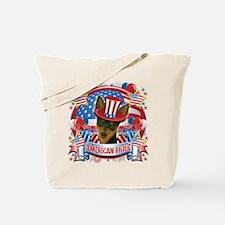 American Pride Min Pin Tote Bag
