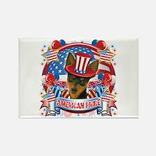 American Pride Min Pin Rectangle Magnet