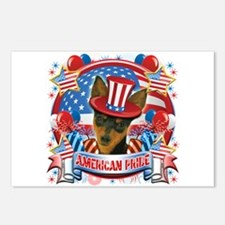American Pride Min Pin Postcards (Package of 8)