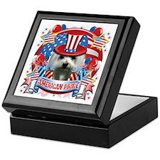 American Pride Maltese Keepsake Box